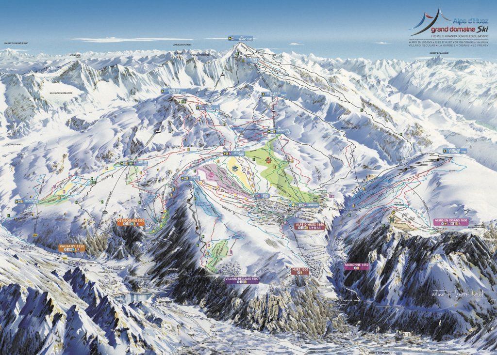 Ski gebied Alpe d'Huez