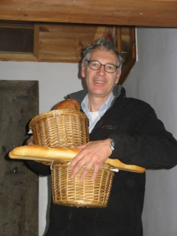 Pieter with bread